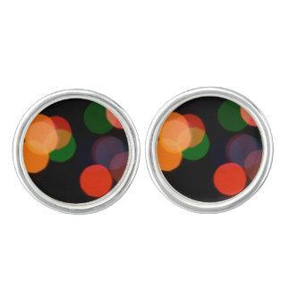Colorful blurry dreamlike bokeh pattern cufflinks