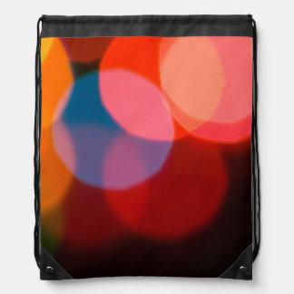 Colorful blurry dreamlike bokeh pattern drawstring backpack
