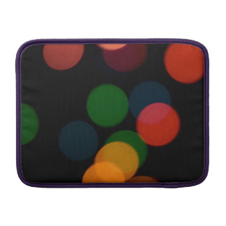Colorful blurry dreamlike bokeh pattern MacBook air sleeve