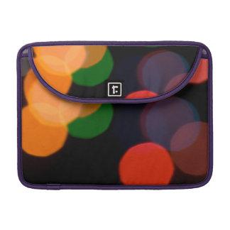 Colorful blurry dreamlike bokeh pattern MacBook pro sleeve