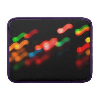 Colorful blurry dreamlike bokeh pattern MacBook sleeve