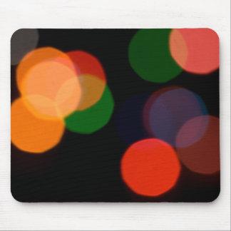 Colorful blurry dreamlike bokeh pattern mouse pad