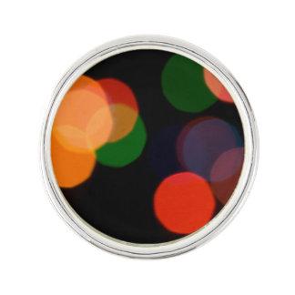 Colorful blurry dreamlike bokeh pattern pin