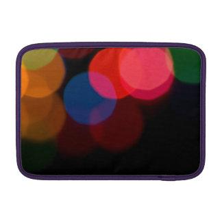 Colorful blurry dreamlike bokeh pattern sleeve for MacBook air
