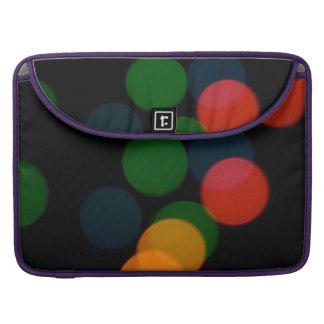 Colorful blurry dreamlike bokeh pattern sleeve for MacBook pro