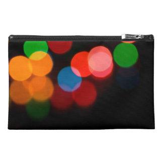 Colorful blurry dreamlike bokeh pattern travel accessory bag