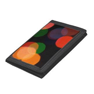 Colorful blurry dreamlike bokeh pattern tri-fold wallet