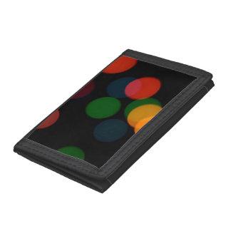 Colorful blurry dreamlike bokeh pattern tri-fold wallets