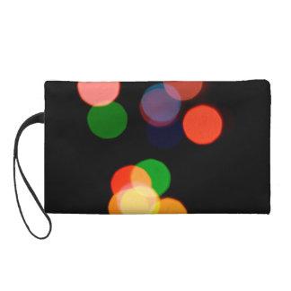 Colorful blurry dreamlike bokeh pattern wristlet