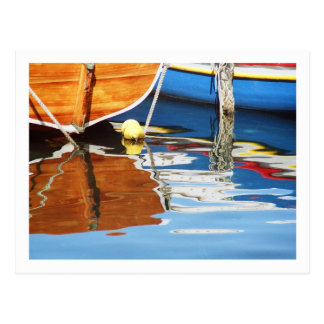 Colorful Boats of Greece Postcard