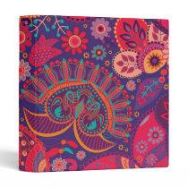Colorful Bohemian Boho MOD Hippy Chic Pattern Binder