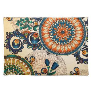 Colorful Bohemian Boho MOD Hippy Chic Pattern Cloth Placemat