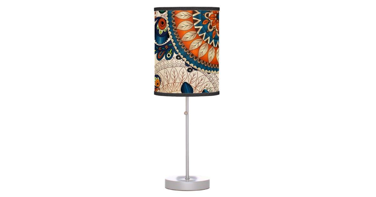 Colorful Bohemian Boho MOD Hippy Chic Pattern Desk Lamp