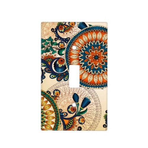Colorful Bohemian Boho MOD Hippy Chic Pattern Light Switch Cover