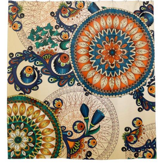 Colorful Bohemian Boho MOD Hippy Chic Pattern Shower Curtain