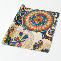 Colorful Bohemian Boho MOD Hippy Chic Pattern Wrapping Paper