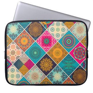 Colorful Bohemian Mandala Patchwork Laptop Sleeve