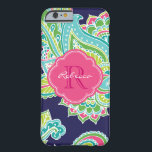 "Colorful Bohemian Paisley Custom Monogram Barely There iPhone 6 Case<br><div class=""desc"">Custom design features an elegant ornate hand-drawn bohemian mehndi henna tattoo illustration with botanical floral and paisley swirls. Click the Customize It button to add your name and monogram to create your own unique one of a kind design.</div>"