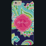 "Colorful Bohemian Paisley Custom Monogram Barely There iPhone 6 Plus Case<br><div class=""desc"">Custom design features an elegant ornate hand-drawn bohemian mehndi henna tattoo illustration with botanical floral and paisley swirls. Click the Customize It button to add your name and monogram to create your own unique one of a kind design.</div>"