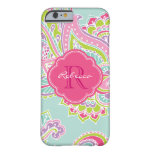 Colorful Bohemian Paisley Custom Monogram iPhone 6 Case