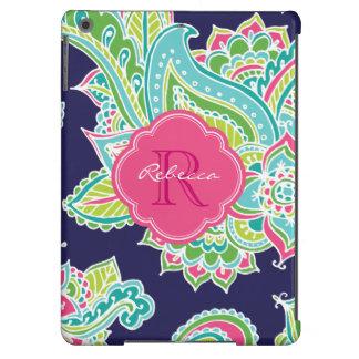 Colorful Bohemian Paisley Custom Monogram Case For iPad Air