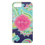 Colorful Bohemian Paisley Custom Monogram iPhone 8/7 Case