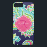 """Colorful Bohemian Paisley Custom Monogram iPhone 8 Plus/7 Plus Case<br><div class=""""desc"""">Custom design features an elegant ornate hand-drawn bohemian mehndi henna tattoo illustration with botanical floral and paisley swirls. Click the Customize It button to add your name and monogram to create your own unique one of a kind design.</div>"""