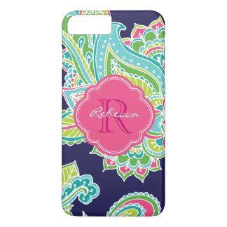 Colorful Bohemian Paisley Custom Monogram iPhone 8 Plus/7 Plus Case