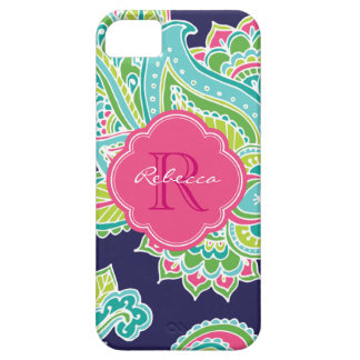 Colorful Bohemian Paisley Custom Monogram iPhone SE/5/5s Case