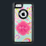 """Colorful Bohemian Paisley Custom Monogram OtterBox Defender iPhone Case<br><div class=""""desc"""">Custom phone case design features an elegant ornate hand-drawn bohemian illustration with botanical floral and paisley swirls. Click the Customize It button to add your name and monogram to create your own unique one of a kind design.</div>"""