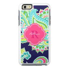 Colorful Bohemian Paisley Custom Monogram Otterbox Iphone 6/6s Plus Case at Zazzle