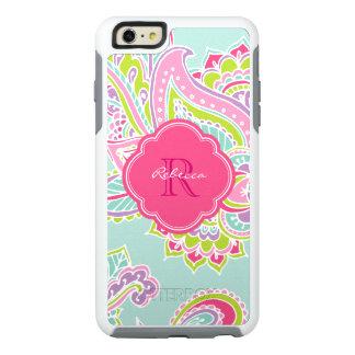 Colorful Bohemian Paisley Custom Monogram OtterBox iPhone 6/6s Plus Case