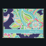 """Colorful Bohemian Paisley Monogram Cover For iPad Mini<br><div class=""""desc"""">Custom design features an elegant ornate hand-drawn bohemian mehndi henna tattoo illustration with botanical floral and paisley swirls. Click the Customize It button to add your own text or name monogram to create your own unique one of a kind design.</div>"""