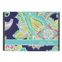 Colorful Bohemian Paisley Monogram Cover For iPad Mini