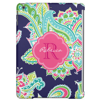 Colorful Bohemian Paisley Monogram iPad Air Covers