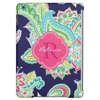 Colorful Bohemian Paisley Monogram iPad Air Cases