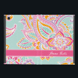 "Colorful Bohemian Paisley Monogram iPad Mini Case<br><div class=""desc"">Custom design features an elegant ornate hand-drawn bohemian mehndi henna tattoo illustration with botanical floral and paisley swirls. Click the Customize It button to add your own text or name monogram to create your own unique one of a kind design.</div>"