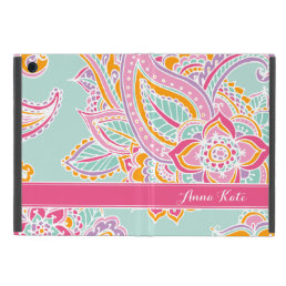 Colorful Bohemian Paisley Monogram iPad Mini Case