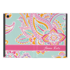 Colorful Bohemian Paisley Monogram Ipad Mini Covers at Zazzle
