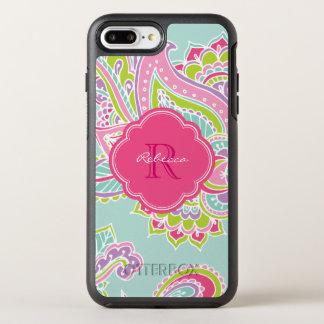 Colorful Bohemian Paisley Monogram OtterBox Symmetry iPhone 7 Plus Case