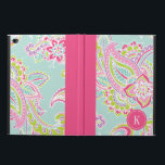 """Colorful Bohemian Paisley Monogram Powis iPad Air 2 Case<br><div class=""""desc"""">Custom design features an elegant ornate hand-drawn bohemian paisley design. Personalize it with your monogram initial in a dotted circle frame or click Customize It to add your own text and images to create a one of a kind design.</div>"""