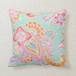 Colorful Bohemian Paisley Pillows