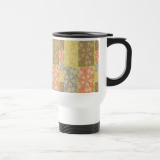 Colorful Bohemian Patchwork 15 Oz Stainless Steel Travel Mug