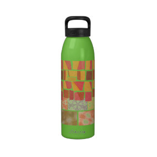 Colorful Bohemian Patchwork Water Bottle