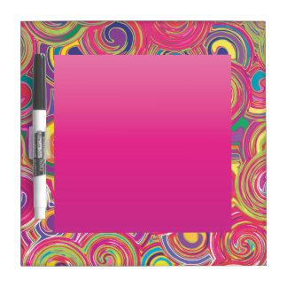 Colorful Bohemian Swirls Dry Erase Boards