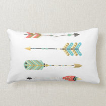 Colorful Boho Arrow Pattern | Lumbar Pillow