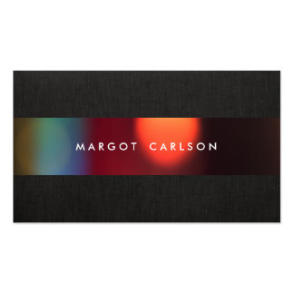 Colorful Bokeh Black Party and Event Coordinator Double-Sided Standard Business Cards (Pack Of 100)