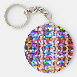 Colorful bokeh effect keychain