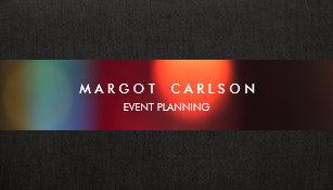 Entertainment business cards templates zazzle colorful bokeh event planner and entertainment business card colourmoves