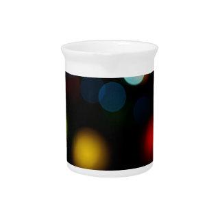 Colorful bokeh lights design beverage pitcher